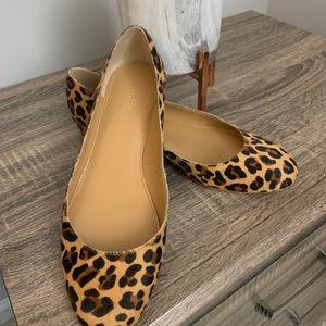 J.Crew leopard print flats never worn